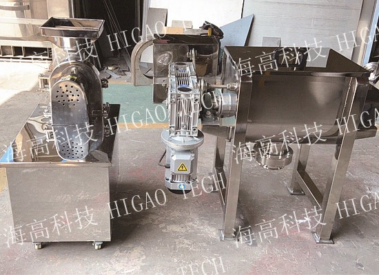 horizontal ribbon mixer for pigments